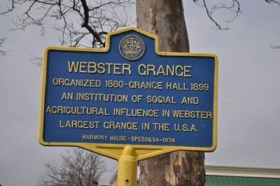 Webster Grange Marker image. Click for full size.