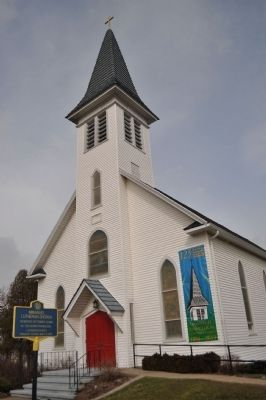 Immanuel Lutheran Church and Marker image. Click for full size.