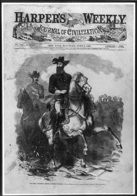 <i>Colonel Grierson, Sixth Illinois Cavalry - From a Photo by Jacobs of New Orleans image. Click for full size.