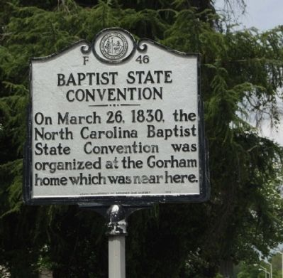 Baptist State Convention Marker image. Click for full size.
