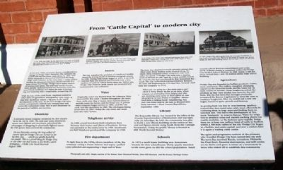 From 'Cattle Capital' to modern city Marker image. Click for full size.