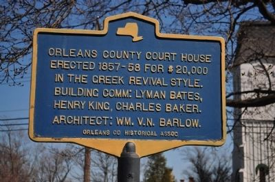 Orleans County Courthouse Marker image. Click for full size.