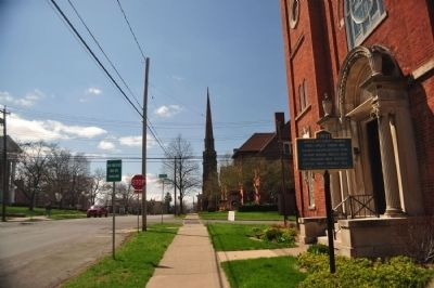 First United Methodist Church Marker facing west image. Click for full size.