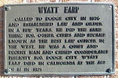 Wyatt Earp Marker at Centennial Monument image. Click for full size.