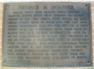 George M. Hoover Marker image. Click for full size.