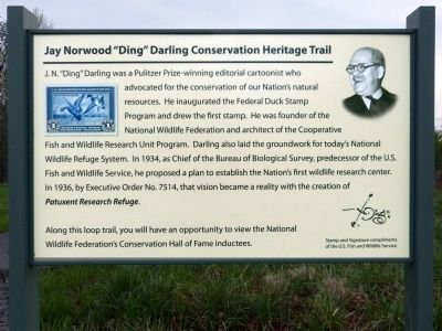 "Jay Norwood ""Ding"" Darling Conservation Trail Marker image. Click for full size."