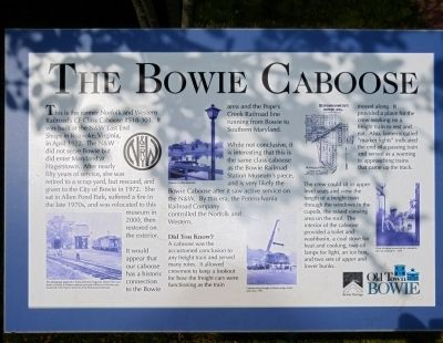 The Bowie Caboose Marker image. Click for full size.