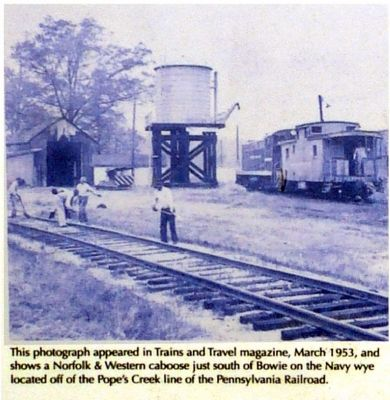 N&W Caboose, 1953 image. Click for full size.