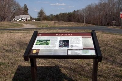 Red Hill Marker at the Intersection with Staunton Hill Road image. Click for full size.