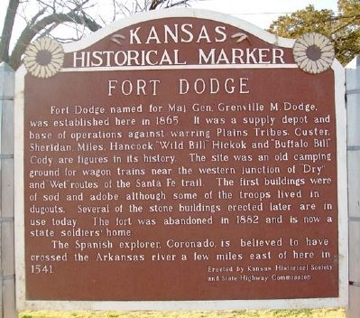 Fort Dodge Marker image. Click for full size.