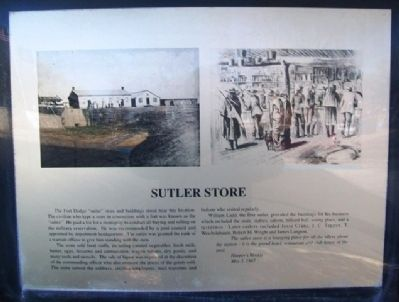 Sutler Store Marker image. Click for full size.