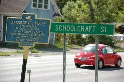 Schoolcraft House Marker image. Click for full size.
