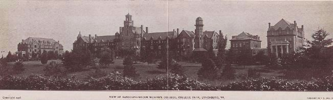 View of Randolph-Macon Woman's College, College Park, Lynchburg, Va. image. Click for full size.