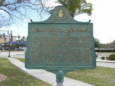 Judah Philip Benjamin Marker (reverse side) image. Click for full size.