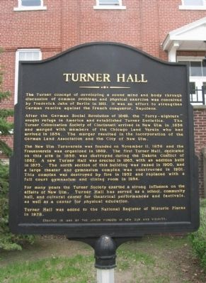 Turner Hall Marker image. Click for full size.