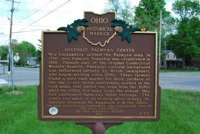 Historic Palmyra Center Marker image. Click for full size.