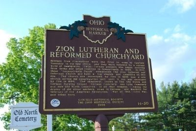 Zion Lutheran and Reformed Churchyard Marker image. Click for full size.