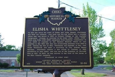Elisha Whittlesey Marker - Side A image. Click for full size.