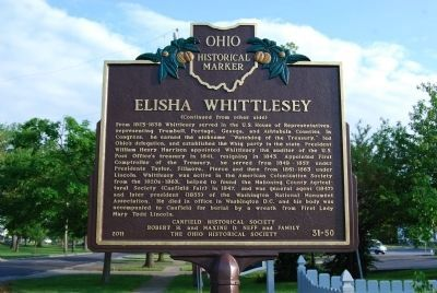 Elisha Whittlesey Marker - Side B image. Click for full size.