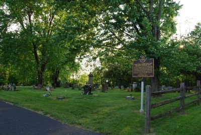 Dean Hill Cemetery and Disciple Church Site Marker image. Click for full size.