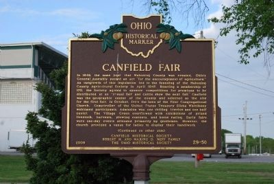 Canfield Fair Marker - Side A image. Click for full size.