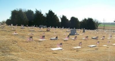 Kansas Soldier's Home Cemetery View image. Click for full size.