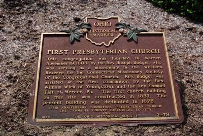 Original First Presbyterian Church Marker image. Click for full size.