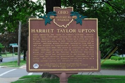 Harriet Taylor Upton Marker image. Click for full size.