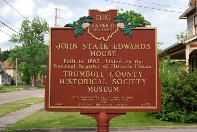 John Stark Edwards House Marker image. Click for full size.