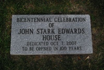 John Stark Edwards House Bicentennial Celebration Stone & Time Capsule image. Click for full size.
