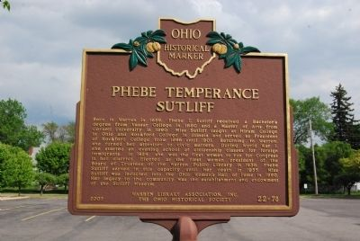 Phebe Temperance Sutliff Marker image. Click for full size.
