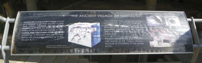 The Ancient Village of Nazareth Marker image. Click for full size.