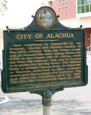 City of Alachua Marker image. Click for full size.