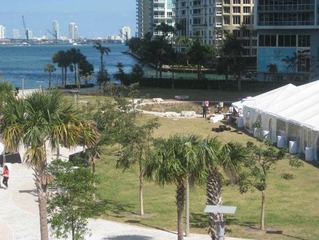 The Miami Circle and Park at Brickell Point image. Click for full size.