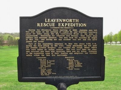 Leavenworth Rescue Expedition Marker image. Click for full size.
