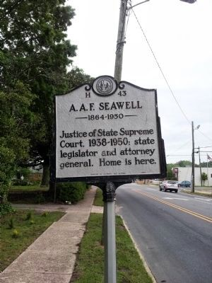 A.A.F. Seawell Marker image. Click for full size.