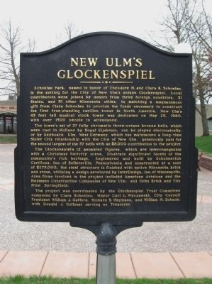 New Ulm's Glockenspiel Marker image. Click for full size.