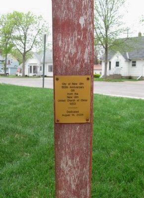 Plaque on Peace Pole image. Click for full size.
