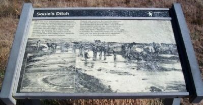 Soule's Ditch Marker image. Click for full size.