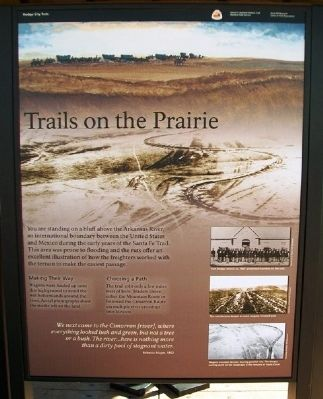 Trails on the Prairie Marker image. Click for full size.