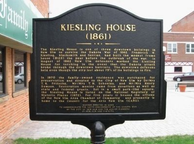 Kiesling House Marker image. Click for full size.