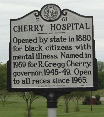 Cherry Hospital Marker image. Click for full size.