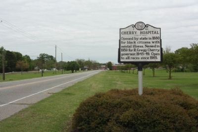 Cherry Hospital Marker, looking south on Old Smithfield Road image. Click for full size.
