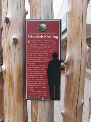 Friedrich Kiesling Biography image. Click for full size.