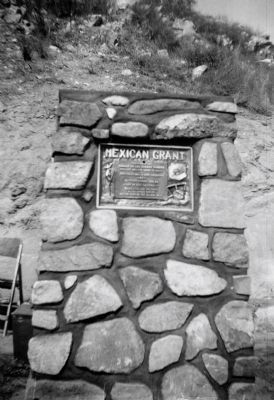 Mexican Grant Marker Dedication image. Click for full size.