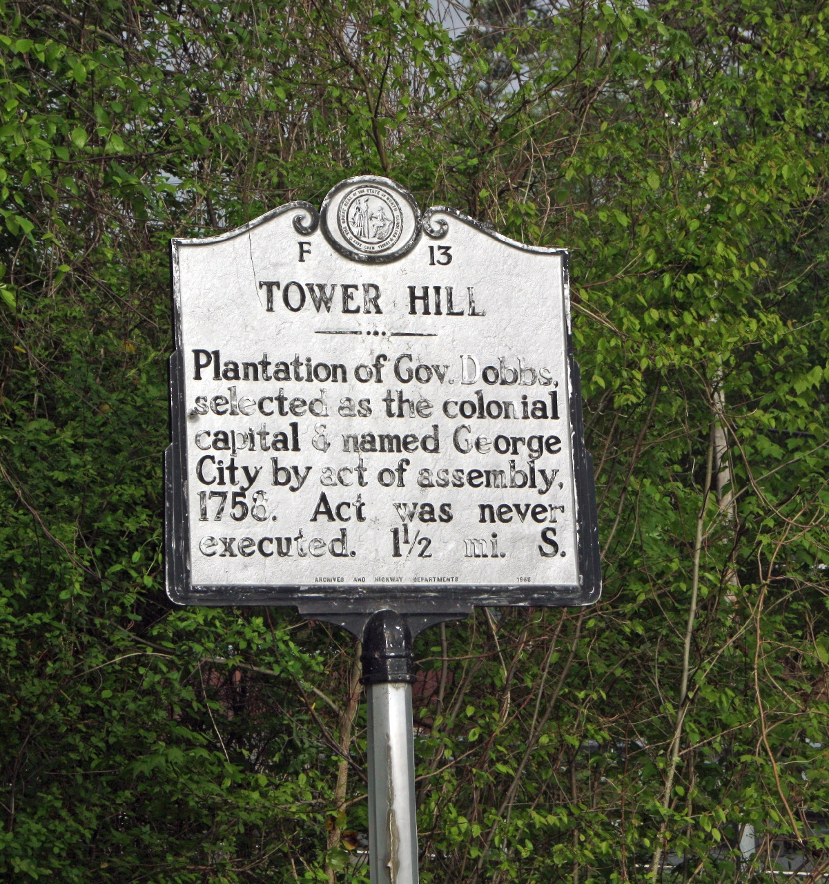 Tower Hill Marker