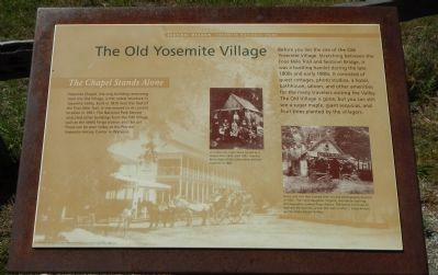 The Old Yosemite Village Marker image. Click for full size.