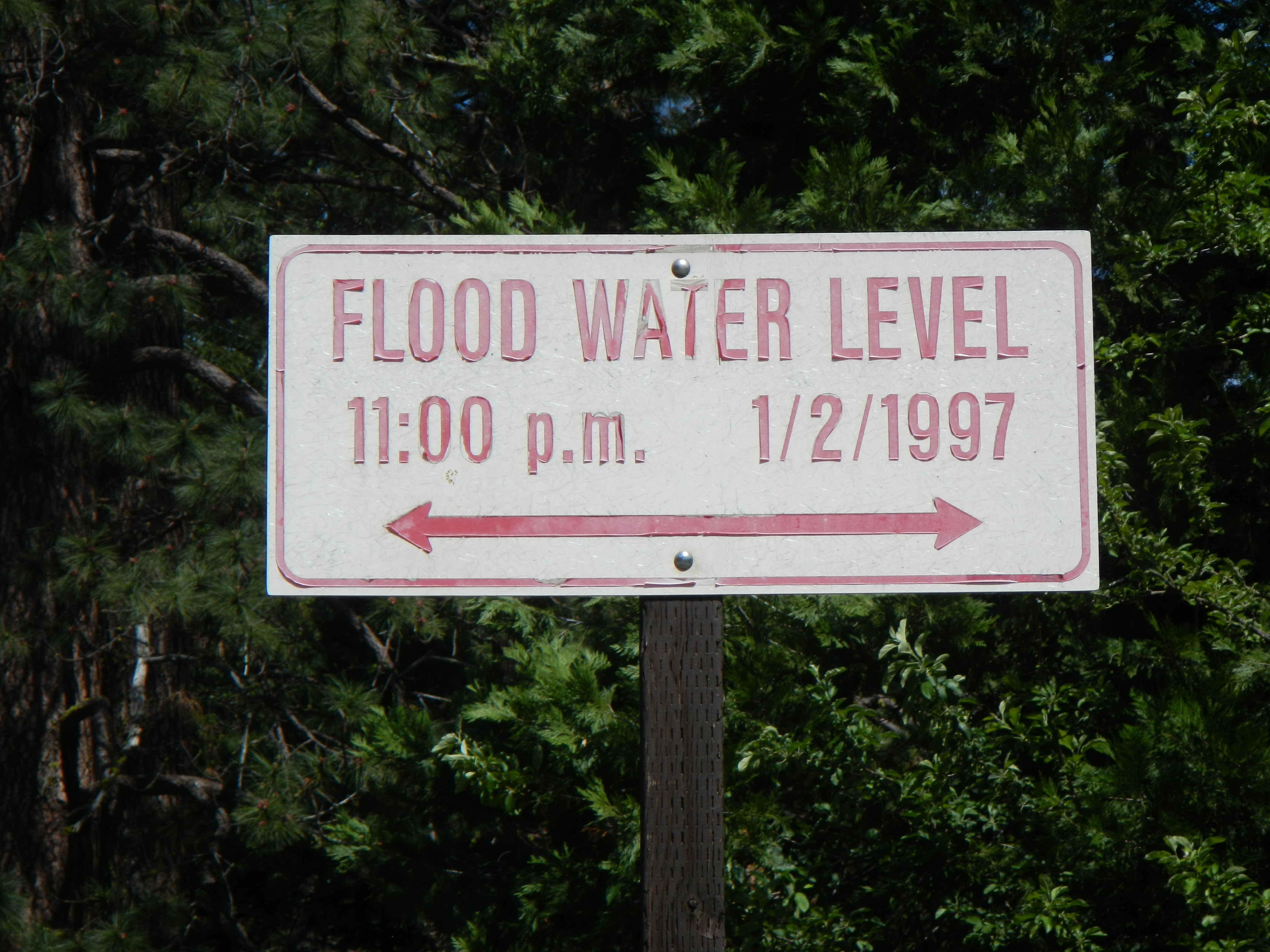 Nearby Flood Level marker