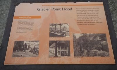Glacier Point Hotel Marker image. Click for full size.