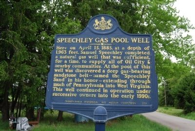 Speechley Gas Pool Well Marker image. Click for full size.